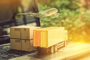 a plane and a truck symbolising supply-chain management
