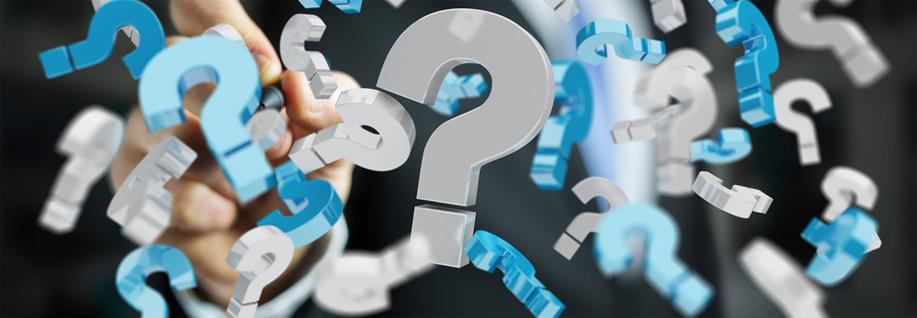 points d'interrogation pour la FAQ sur les études de marché