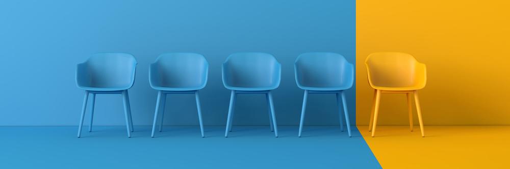 chair blue orange