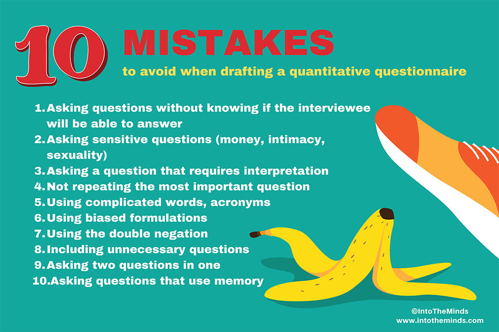 10 mistakes to avoid when drafting a quantitative questionnaire
