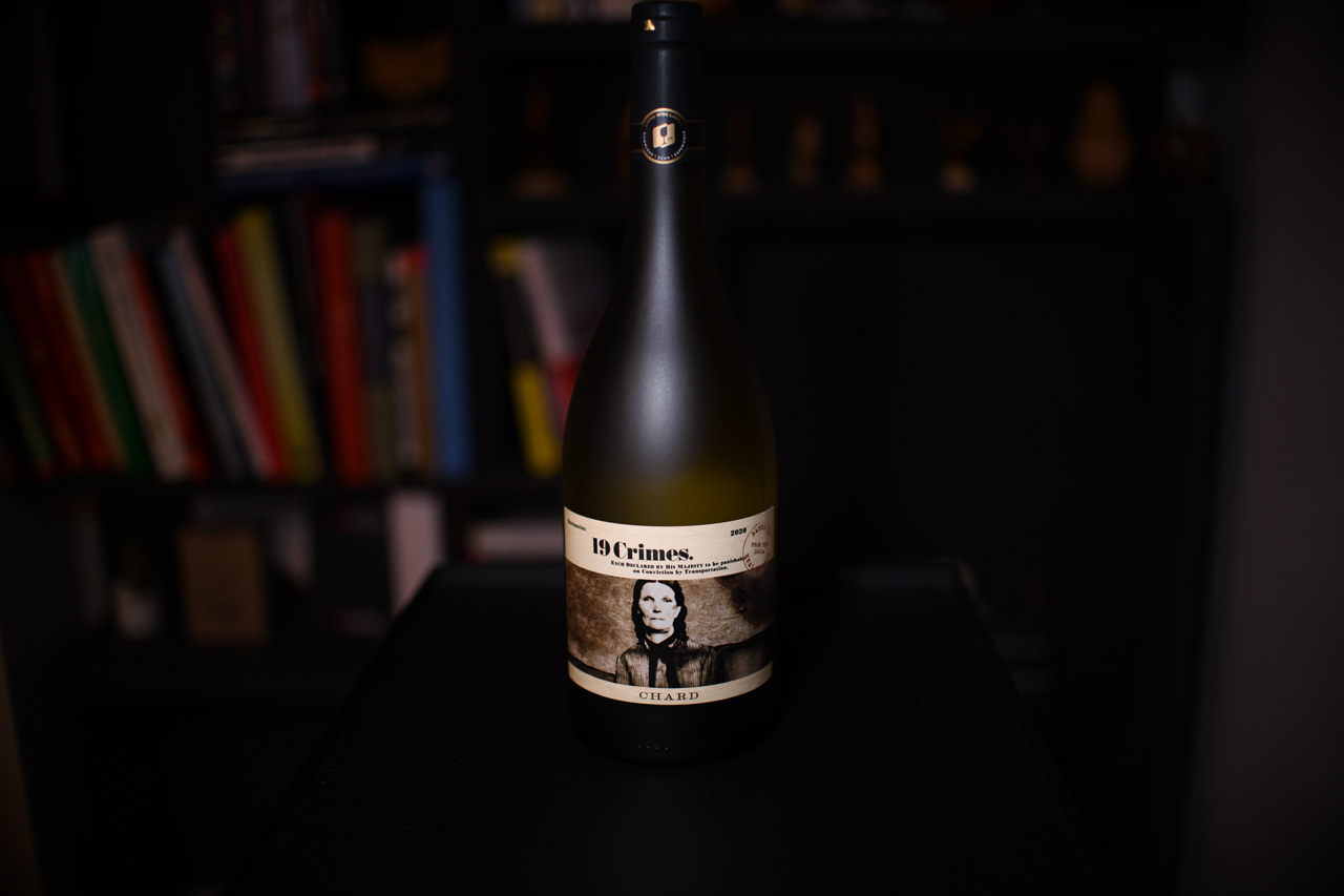 19 Crimes chardonnay bottle