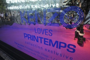 Kenzo Loves Printemps : Fashion et interactive application mobile