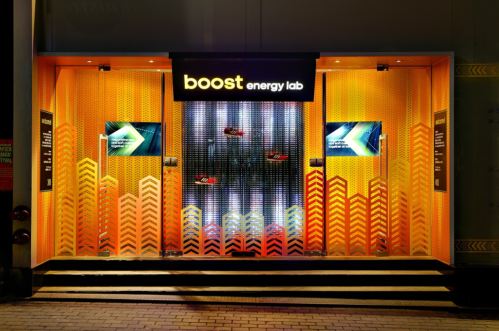 URBANTAINER showed adidas Boost™ Energy Lab pop-up store in Korea