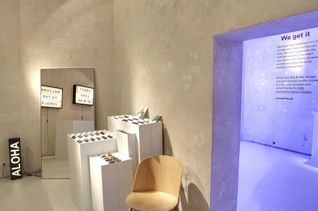 ace tate ouvre un pop up store mitte berlin. Black Bedroom Furniture Sets. Home Design Ideas
