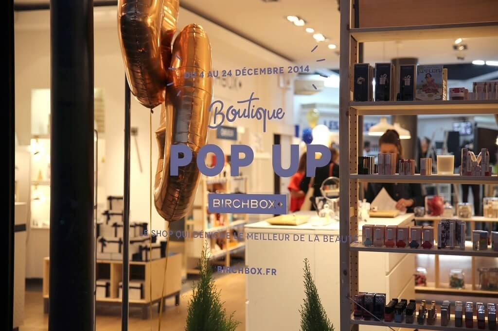 Birchbox has opened in Paris an ephemeral shop for Christmas