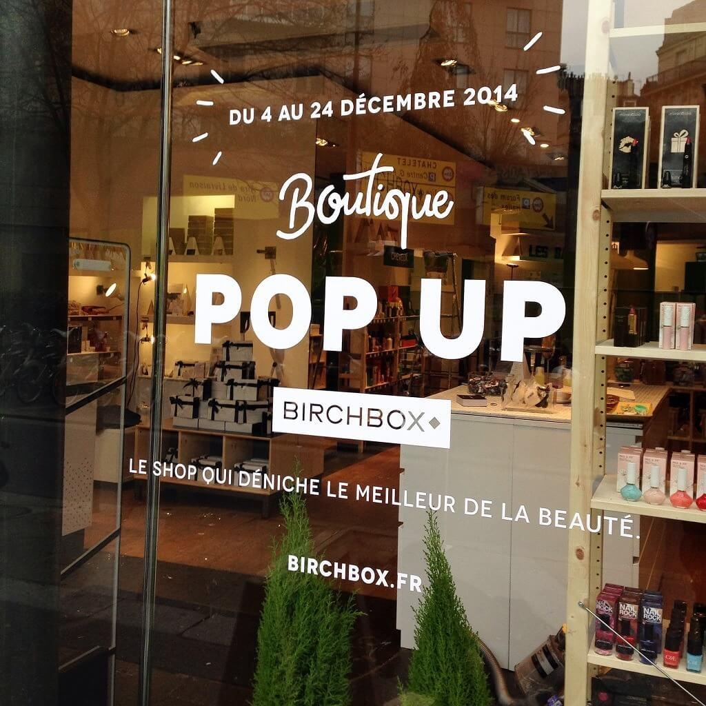 Birchbox a ouvert une boutique éphémère à Paris pour Noël