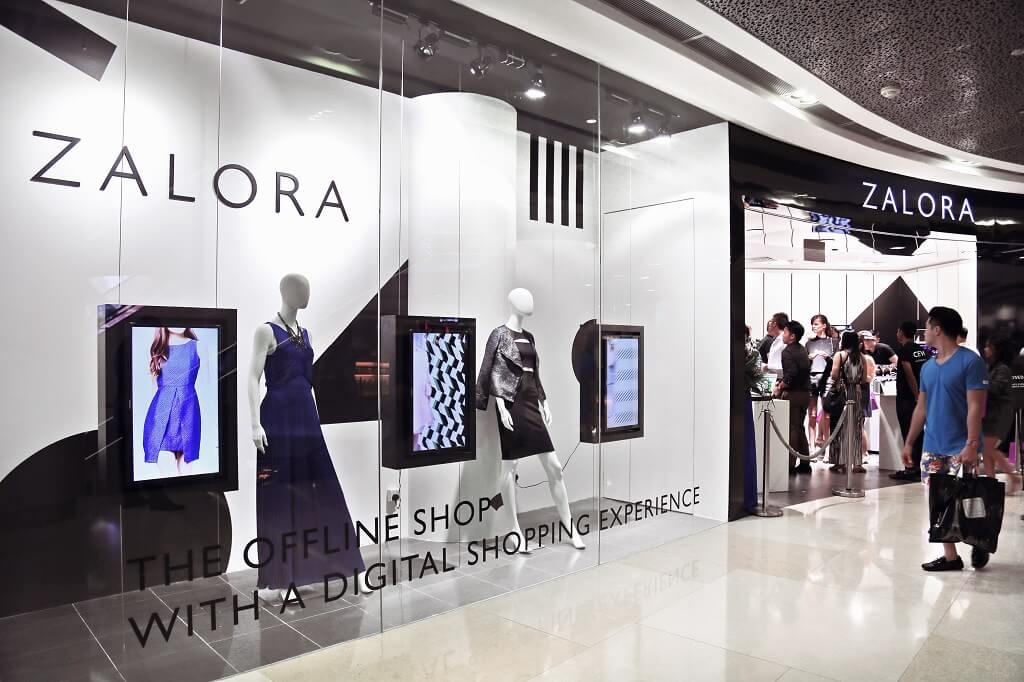 Zalora – Interactive Digital Shopping expérience à ION Orchard à Singapour