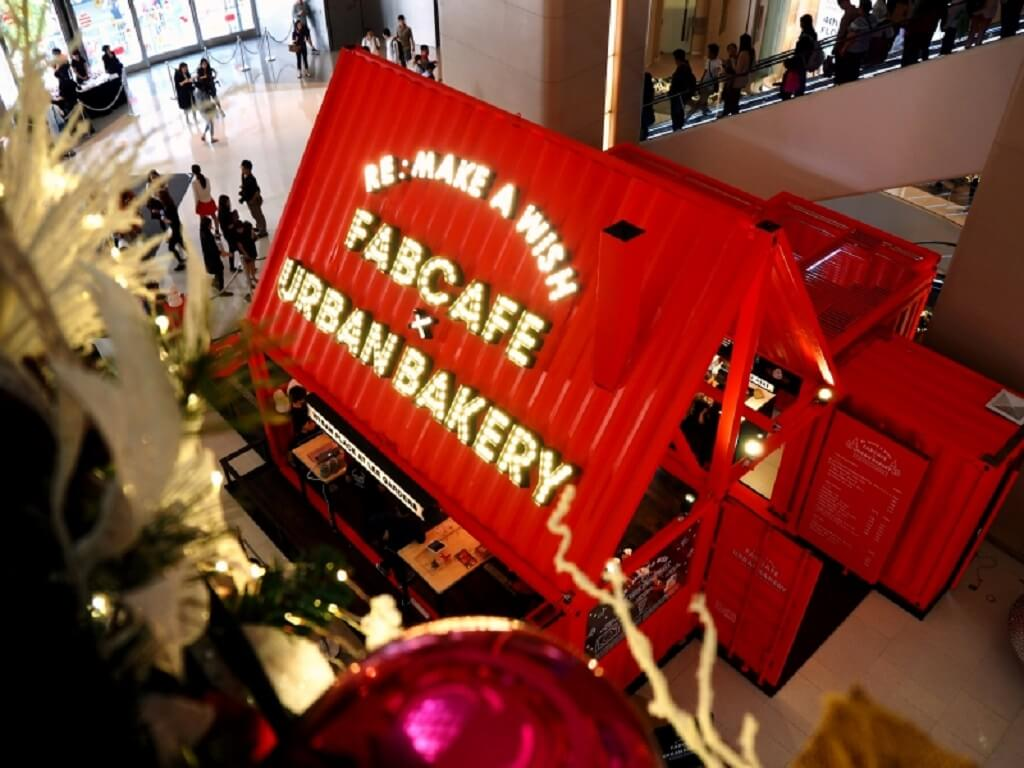 FABCAFE & Urban Bakery pop-up store at Hysan Place in Hong Kong