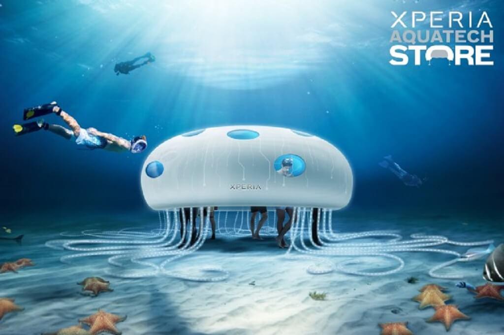Sony Xperia Aquatech pop-up Store à Dubai