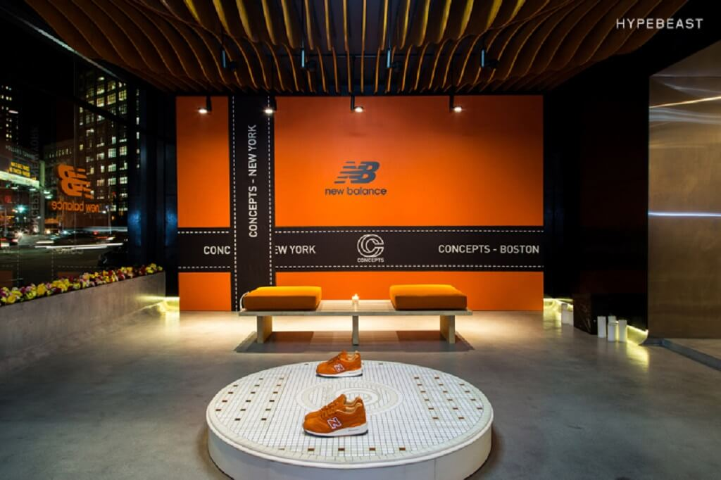 "Concepts X New Balance 997 ""LUXURY GOODS"" POP-UP STORE"