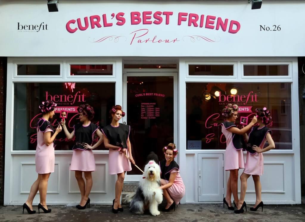 """Curl's Best Friend"" Benefit Pop-Up Parlor in Soho, London"