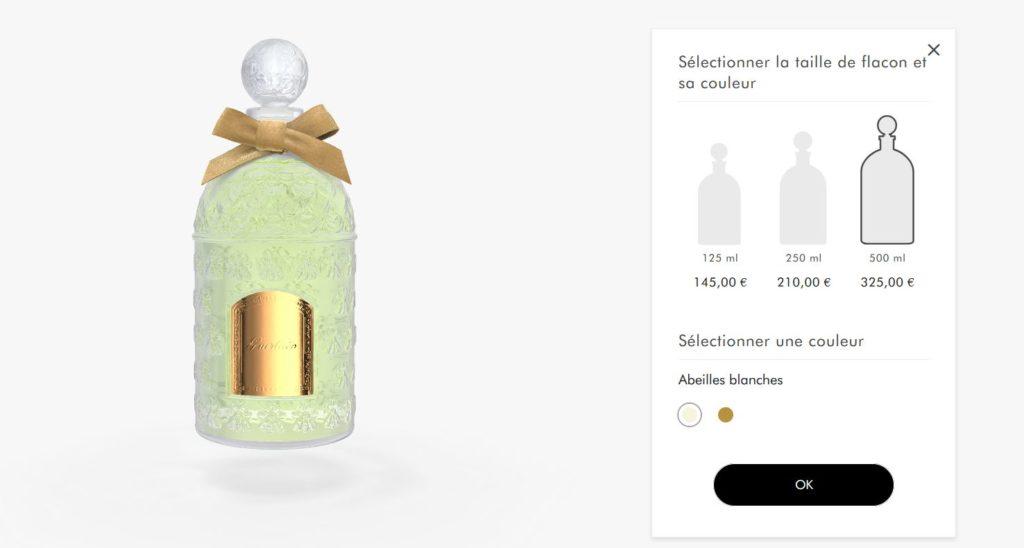 site web Guerlain choix taille flacon