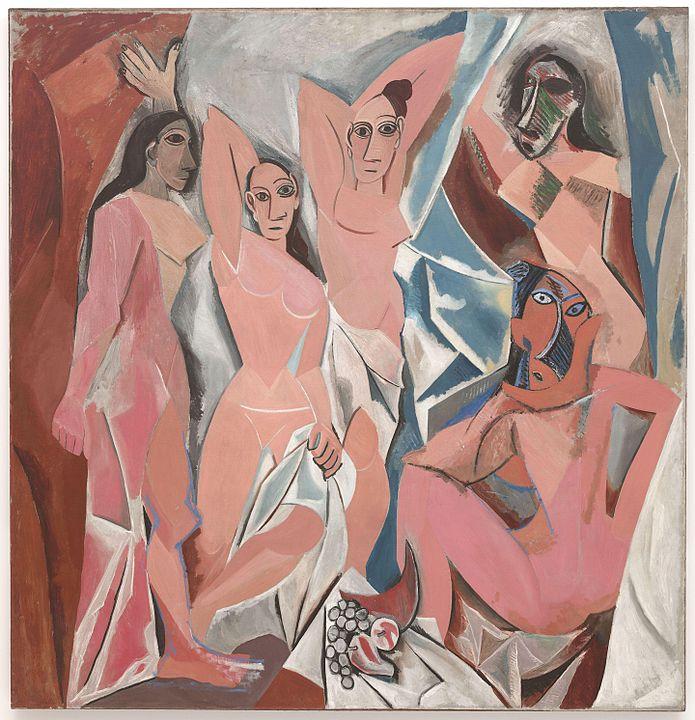 les demoiselles d'Avignon par Picasso