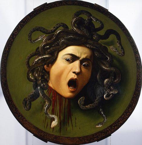 Tête de Méduse. Michelangelo Merisi dit Le Caravage (1597-1598)
