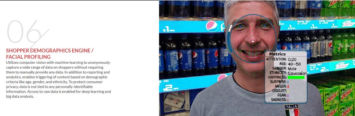 AWM biedt slimme rekken aan, waarmee automatisch een profiel wordt gemaakt van klanten in de winkel