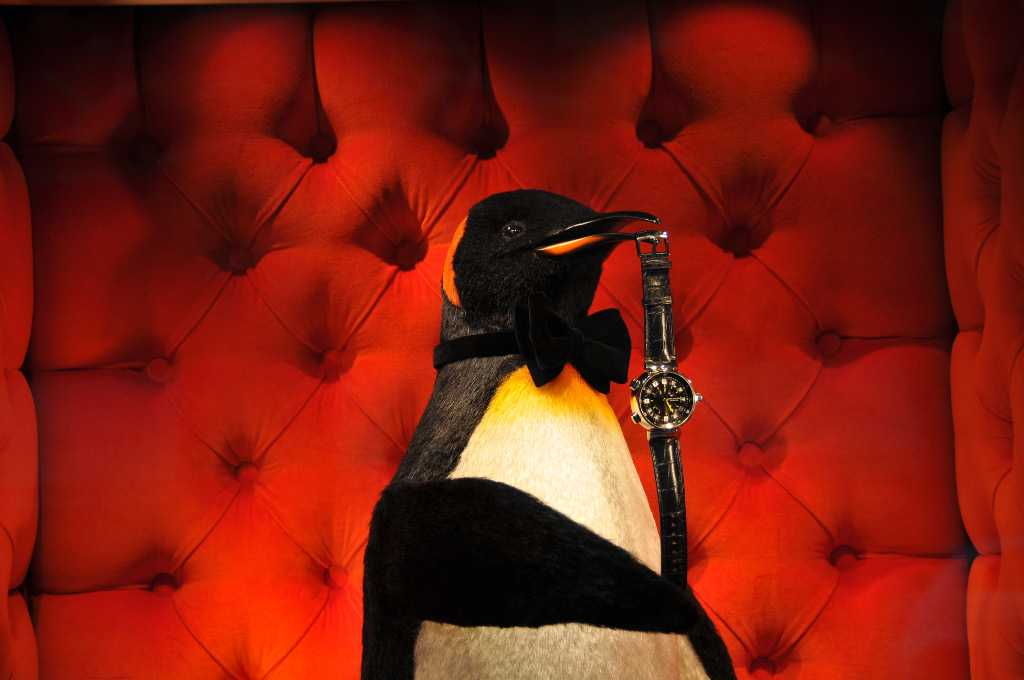 In the new Louis Vuitton store, penguins are the rising stars