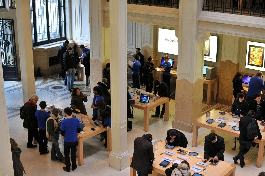 Apple Paris : même recettes qu'à New-York