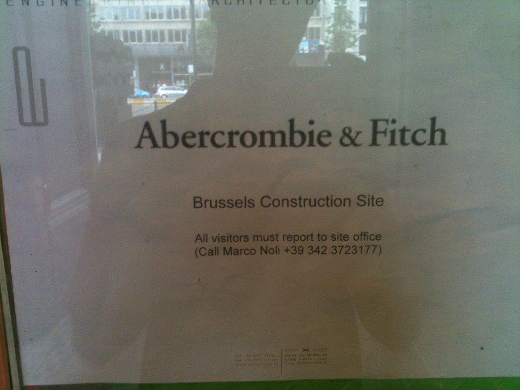 Abercrombie & Fitch n'a toujours pas ouvert à Bruxelles