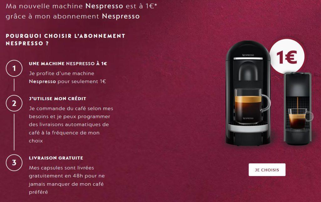 L'abonnement Nespresso