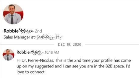 automated invitation on Linkedin