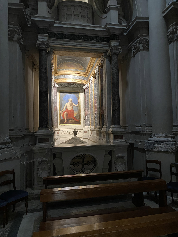Avila chapen forced perspective by Gherardi in Santa-Maria-in-Trastevere