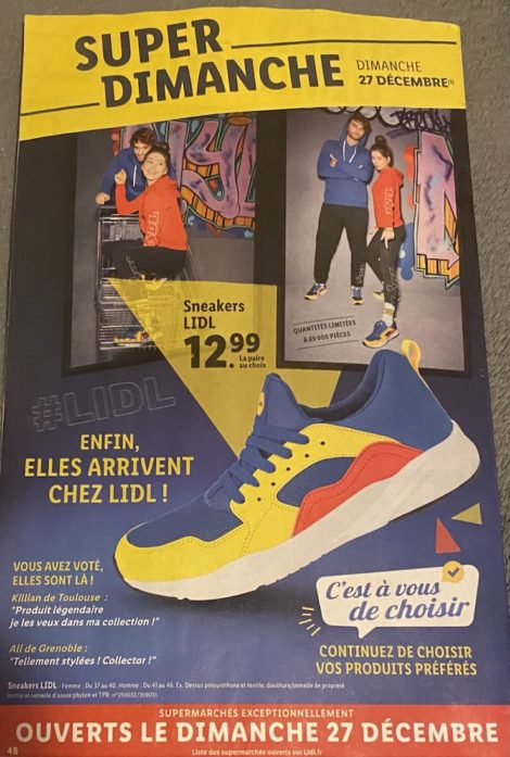 sneakers lidl france