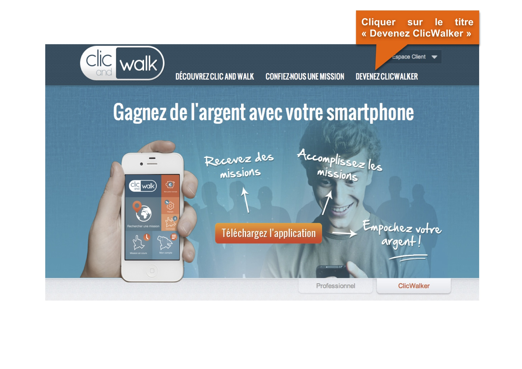 « Clic and walk » reinvents the customer satisfaction survey