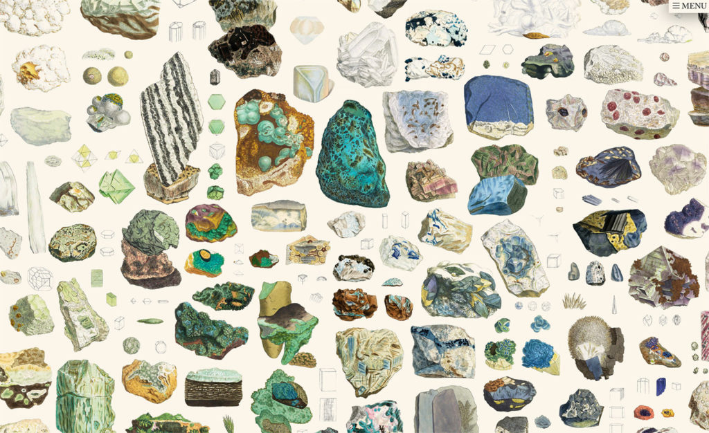 Collage project and art British & Exotic Mineralogy (Nicholas Rougeux)