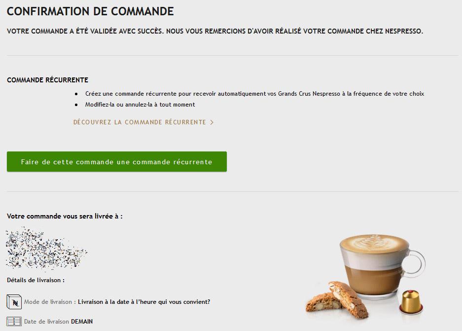 nespresso online ordering system