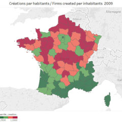 Which regions of France have the most enterprising approach?
