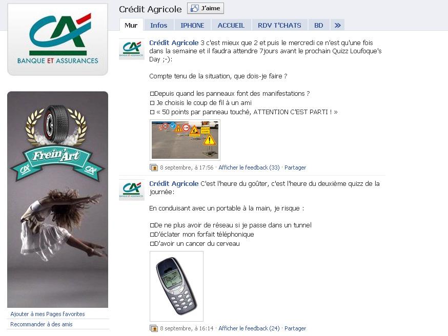 Crédit Agricole : drôle de façon de communiquer sur Facebook