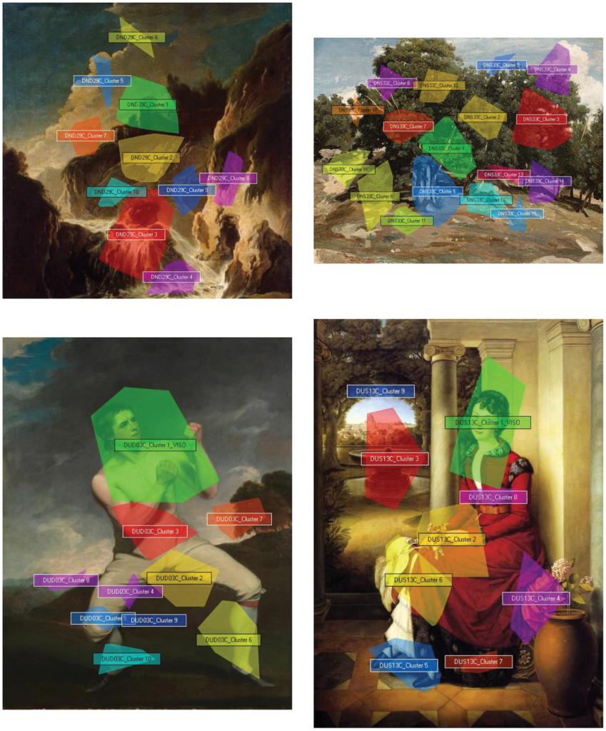 résultats de test par eye-tracking sur des peintures