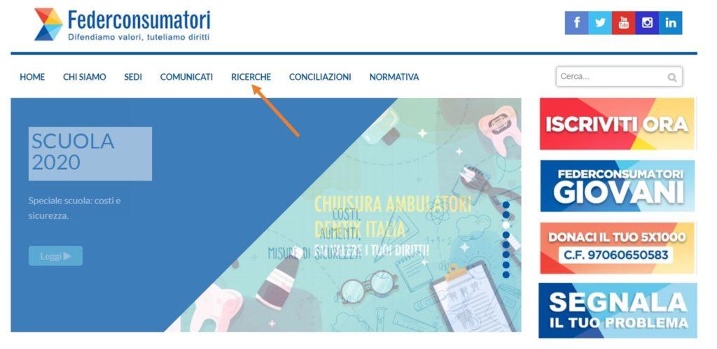 homepage Federconsumatori