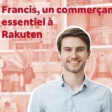 Reclame van Rakuten: Francis, de handelaar die niet bestaat