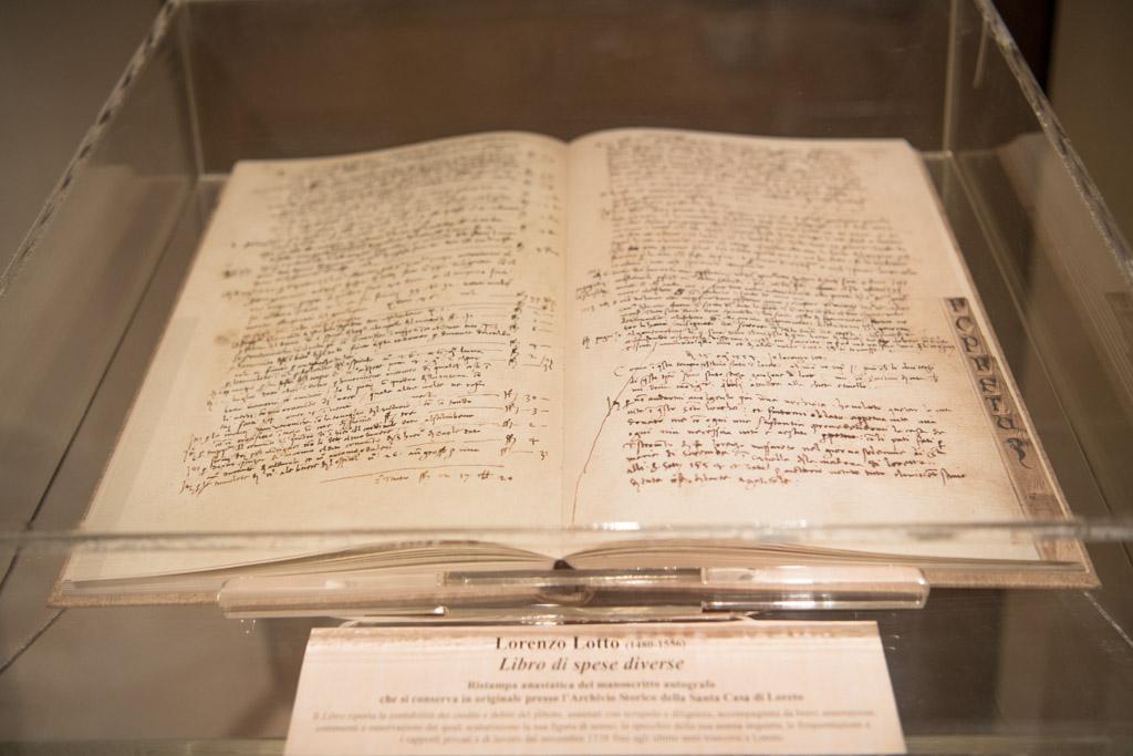 Libro di spese diverse, Lorenzo Lotto
