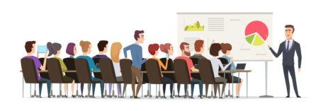 icône expérience entrepreneuriale et chiffres-clés