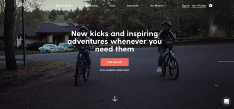 Nike adventure club homepage