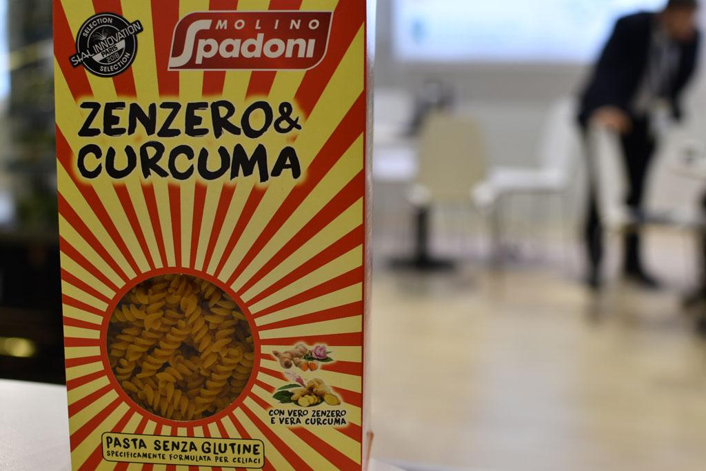 pâtes au gingembre et curcuma lancées par Molino Spadoni