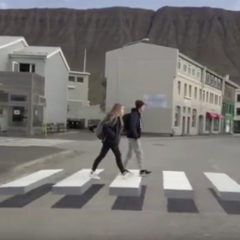 An interesting example of nudge applied to public safety in Ísafjörður, Iceland