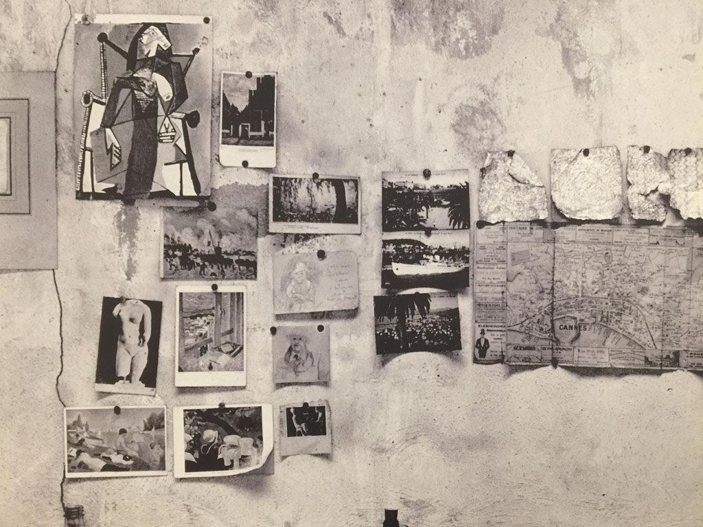 A wall in Pierre Bonnard's studio