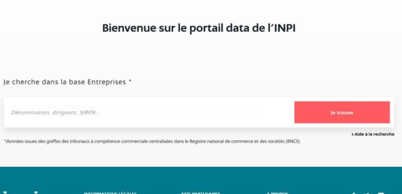 INPI data portal: free data for your market research