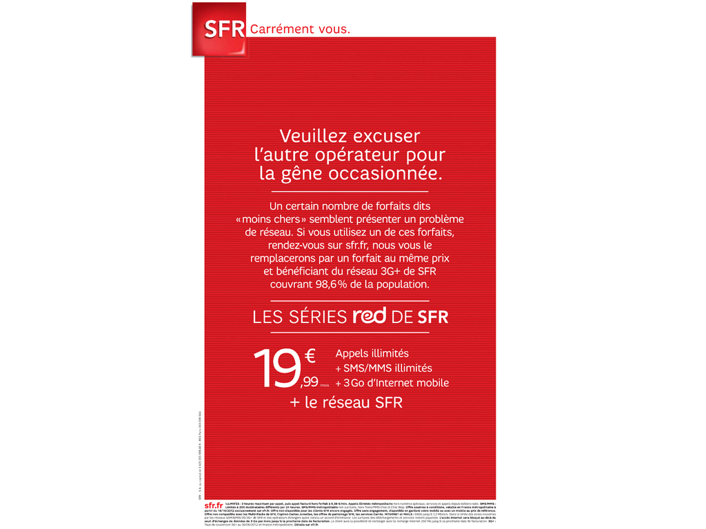 SFR attaque son concurrent Free dans la presse