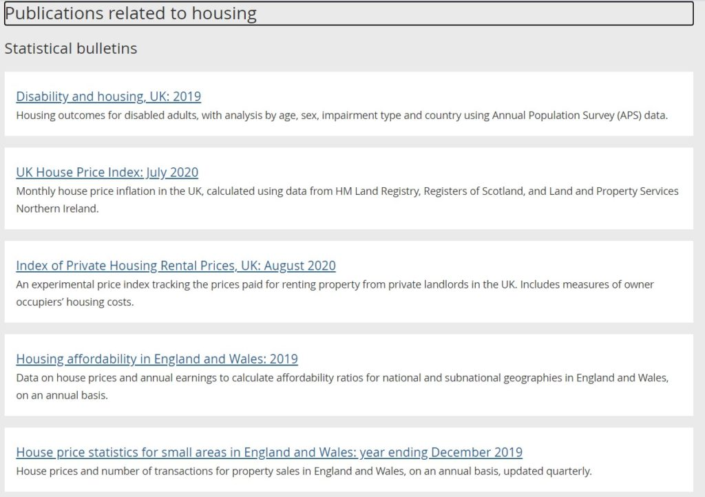 publications related to housing