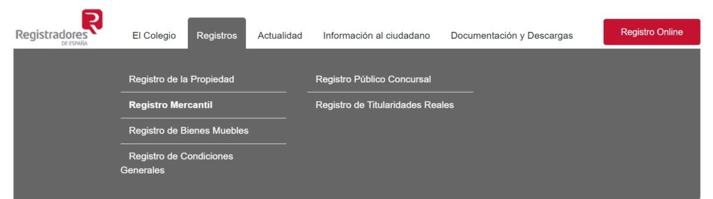 Registradores : register for the population, retailers, etc.