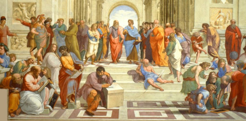 L'École d'Athènes, par Raffaello Sanzio