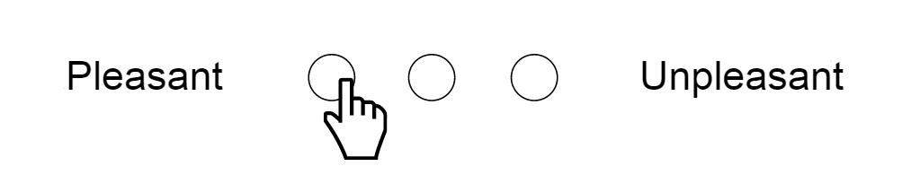 Scala semantica differenziale a 3 punti (gradevole <-> sgradevole)