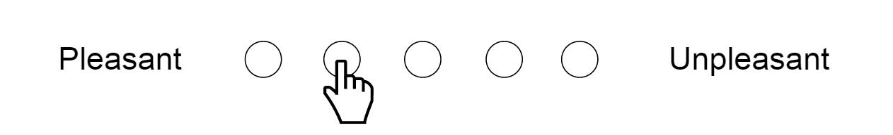 Echelle sémantique différentielle à 5 points (agréable <-> désagréable)