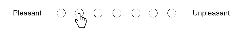 Echelle sémantique différentielle à 7 points (agréable désagréable)