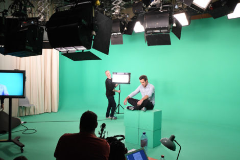 Adrien Devyver during the shooting of the RTBF Confidentiality Charter