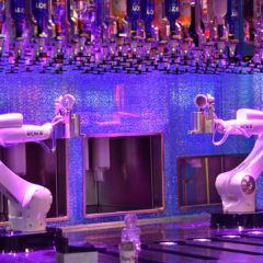 Marketing concept : in this bar cocktails are made by robots